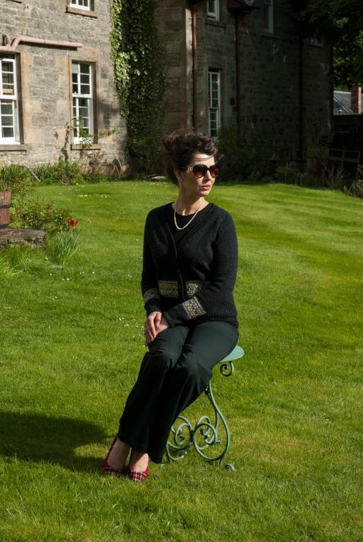 Lovely Kathleen modeling at Coul House in Contin