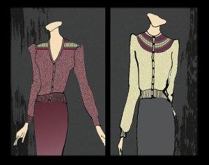 designs- fairisle puff cardigans