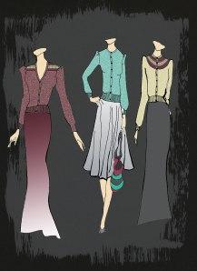 designs2- fairisle puff cardigans